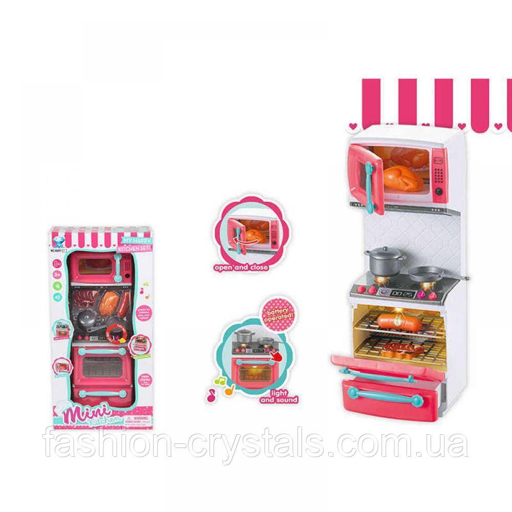 Игровой набор мини кухня с посудой и продуктами 66097