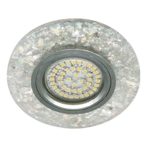 Вбудований світильник Feron 8585-2 з LED підсвічуванням Срібло