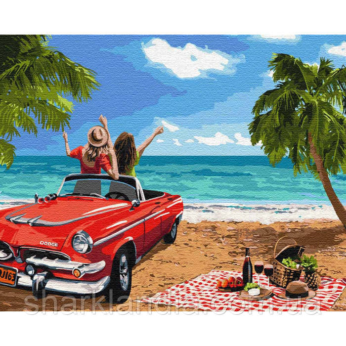 Картина по номерам Путешествие с подругой 40*50см KHO4758 Авто