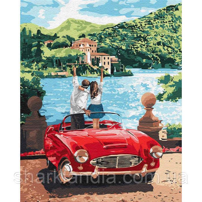 Картина по номерам Путешествуя вдвоем 40*50см KHO4760 День Св Валентина Авто