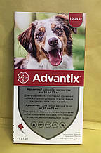 Bayer Advantix (Адвантикс) для собак 10-25 кг за 1 пипетку