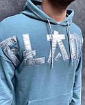 Худі - чоловіча худі стильна блакитна, фото 2