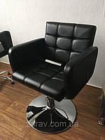 Lion кресло парикмахерское на гидравлике хромированная крестовина, фото 1