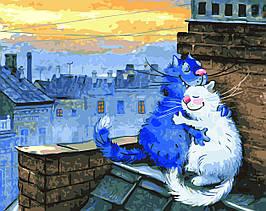 Картина по Номерам Любовь на крыше 40х50см RainbowArt