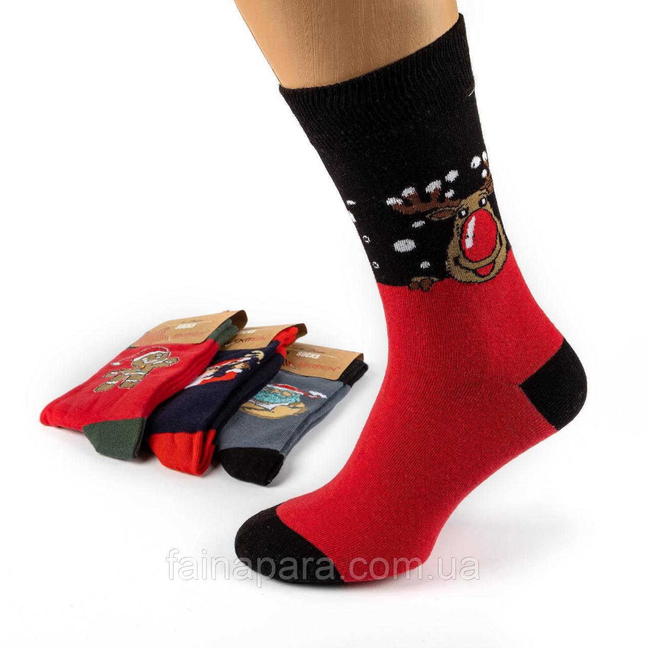 Мужские носки новогодние Ekmen Турция 12пар