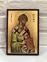 Ікона Святитель Спиридон Триміфунтський 14х30см (Греція)