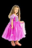 Карнавальное платье Рапунцель для девочек 4-9 лет