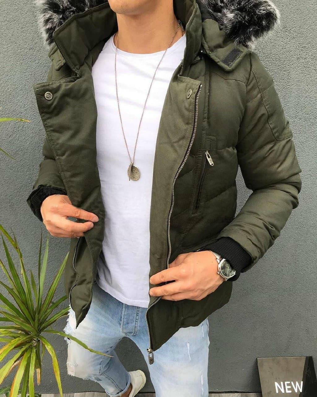 😜 Куртка Чоловіча куртка хакі зима