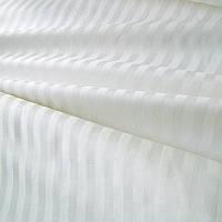 Сатин страйп білий 1см ш.220 см бавовна