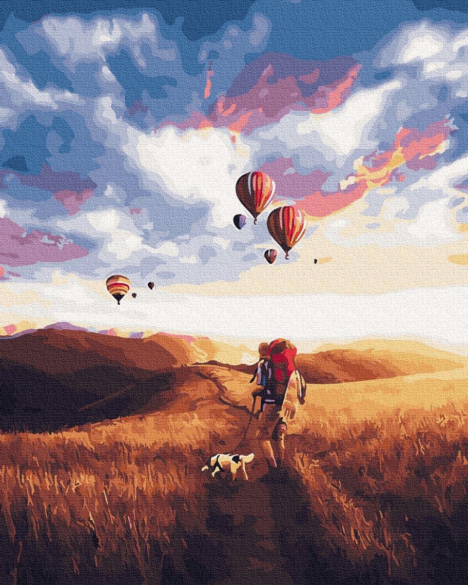 Картина по Номерам Прогулка в поле 40х50см RainbowArt