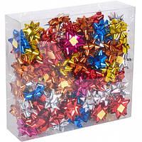 Набор бантов подарочных 4 см цветные 95шт