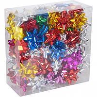 Набор бантов подарочных 5 см цветные 95шт