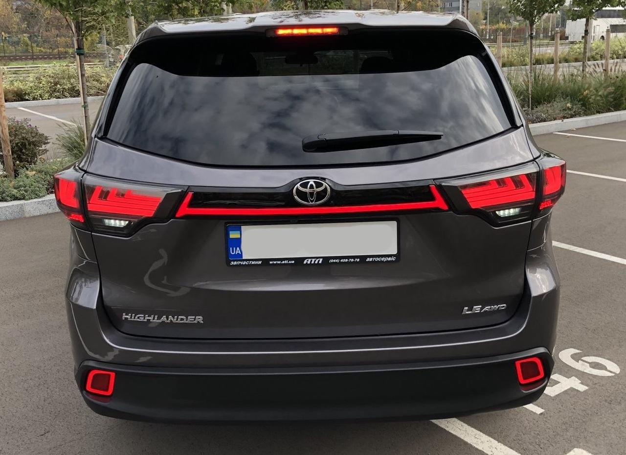 Фонари LED вставка тюнинг оптика Toyota Highlander XU50 черная