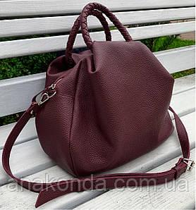 712 Натуральная кожа Женская сумка хобо мешок бордовая через плечо из натуральной кожи объемная сумка женская