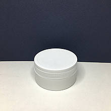 Баночка  белая с  крышкой (форма-шайба), 65 мл
