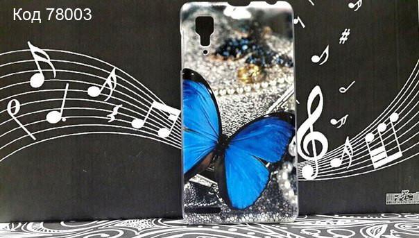 Чехол для lenovo p780 панель накладка с рисунком бабочка