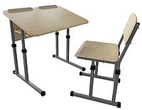 Парта 2 антисколиозная и школьный стул