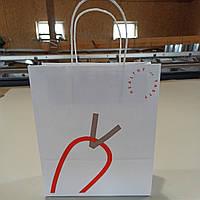 Друк на Крафт пакетах, пакет белый, печать на пакетах, Крафт пакеты, белые пакеты Крафт, печать на бумажных па