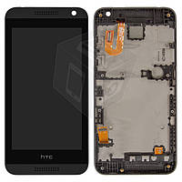 Дисплейный модуль (дисплей + сенсор) для HTC Desire 610, с передней панелью, оригинал