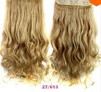 Трессы волнистые блонд пшеничный волосы на клипсах
