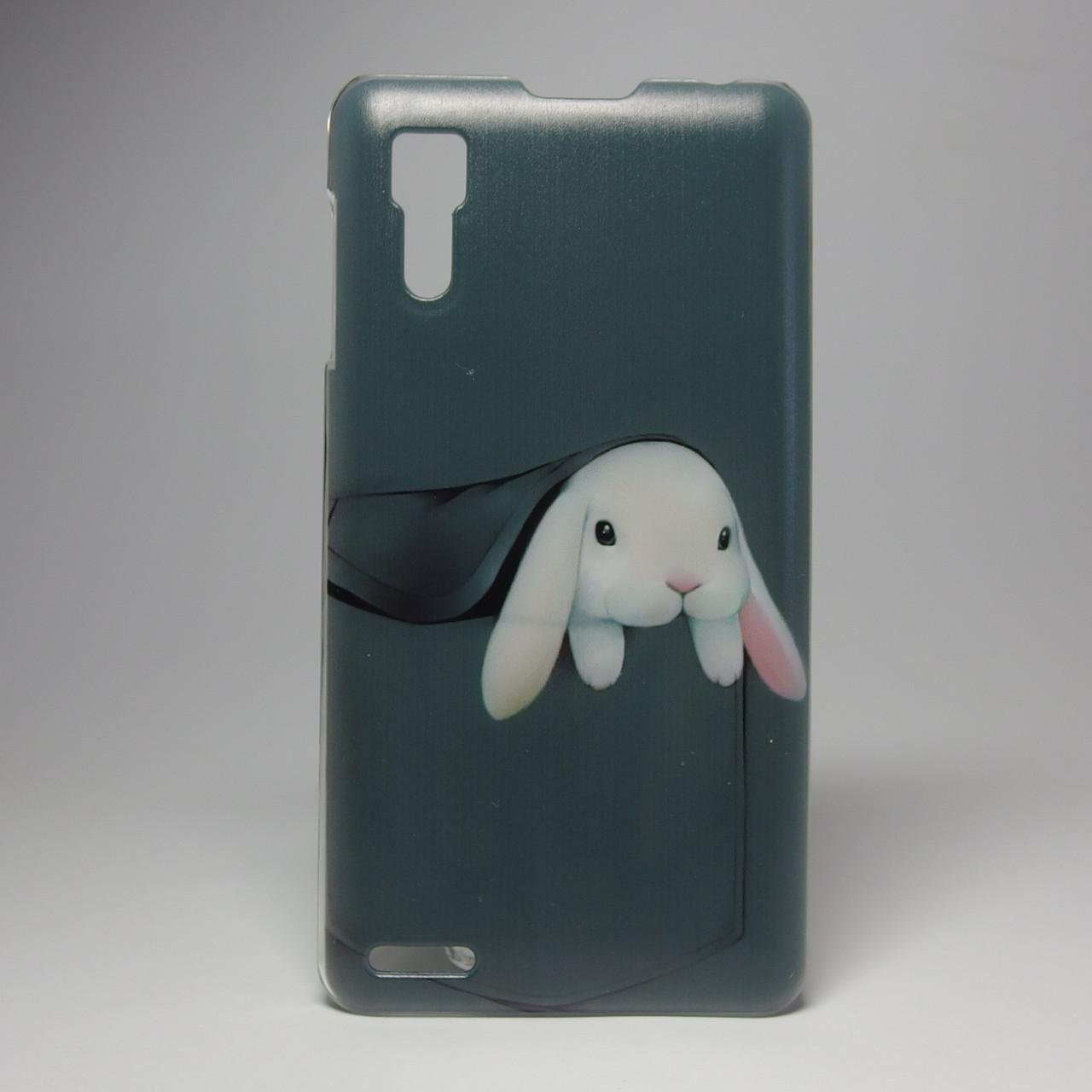 Чехол для lenovo p780 панель накладка с рисунком заяц