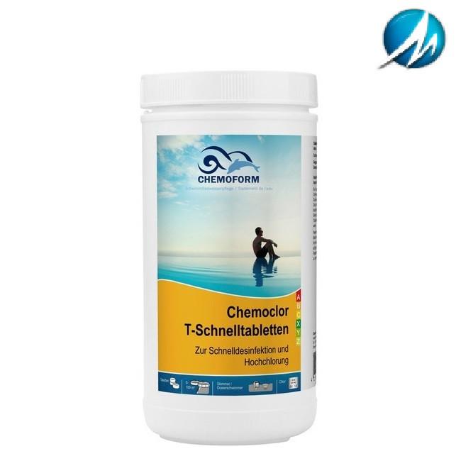 ХЛОР ШОК CHEMOFORM CHEMOCHLOR-T-SCHNELLTABLETTEN (ТАБЛЕТКИ 20 Г) - 1 КГ