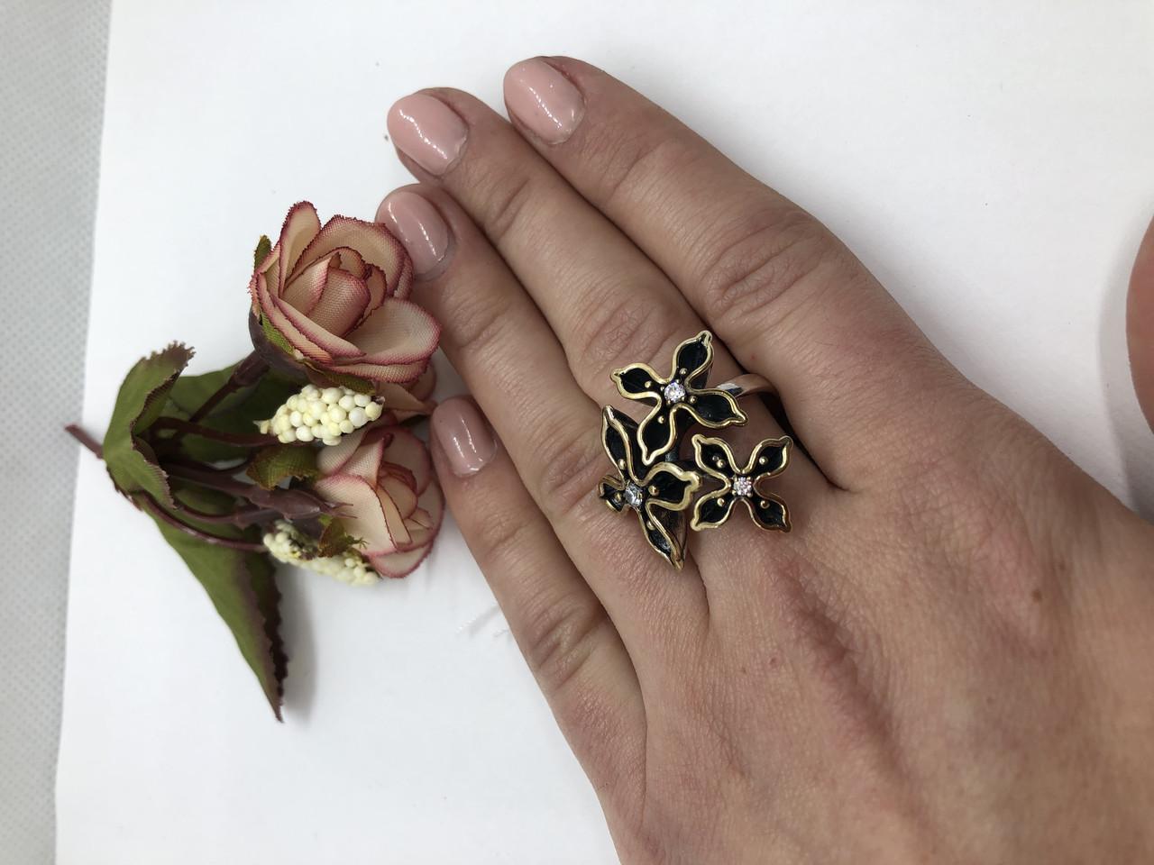 Серебрянное кольцо Акация от Ирида-В