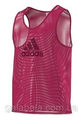 Манишка тренировочная Adidas (красная)