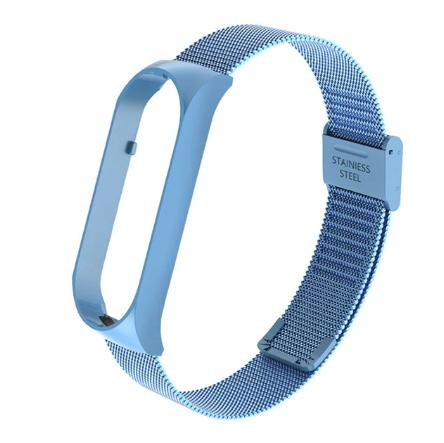 """Металлический браслет """"Миланская петля"""" цвет голубой для фитнес трекера Xiaomi mi band 5"""