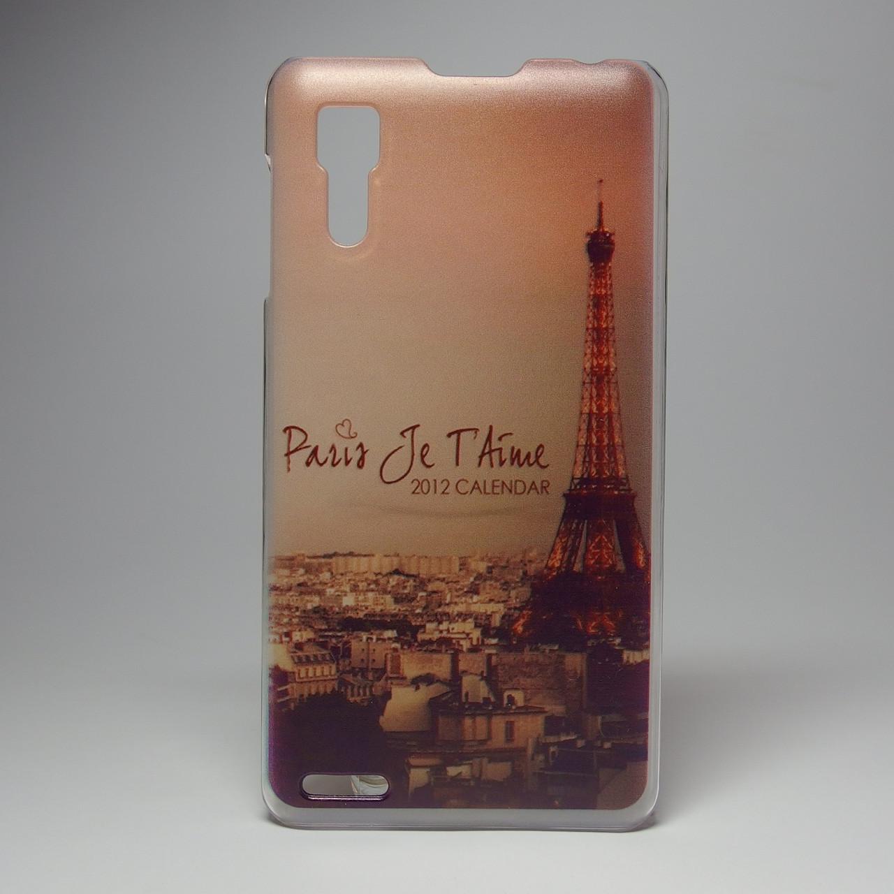 Чехол для lenovo p780 панель накладка с рисунком Париж