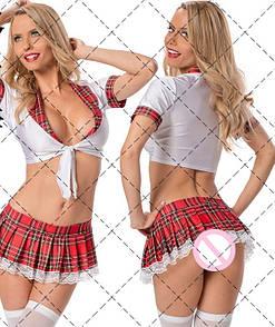Эротический костюм учительница школьница сексуальное белье эротическое белье