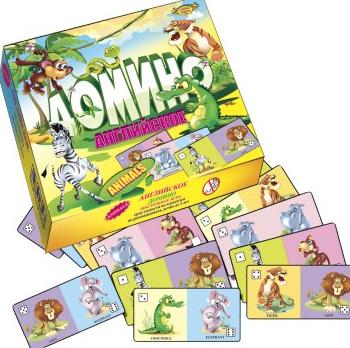 Детское домино английское животные ТМ Мастер Украина