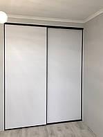 Шкаф купе zola.профиль черный браш. фасад стекло