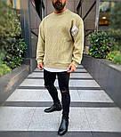 😜 Лонг - мужской свитшот оливкового цвета, фото 3