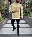 😜 Лонг - мужской свитшот оливкового цвета, фото 2