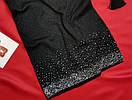 Красиве жіноче чорне плаття з люрексом, фото 3