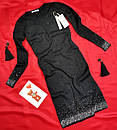 Красиве жіноче чорне плаття з люрексом, фото 2