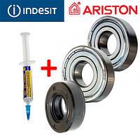 Комплект подшипников и сальник (6202+6203+22*40*10/11.5) для стиральной машины Indesit/Ariston, фото 1