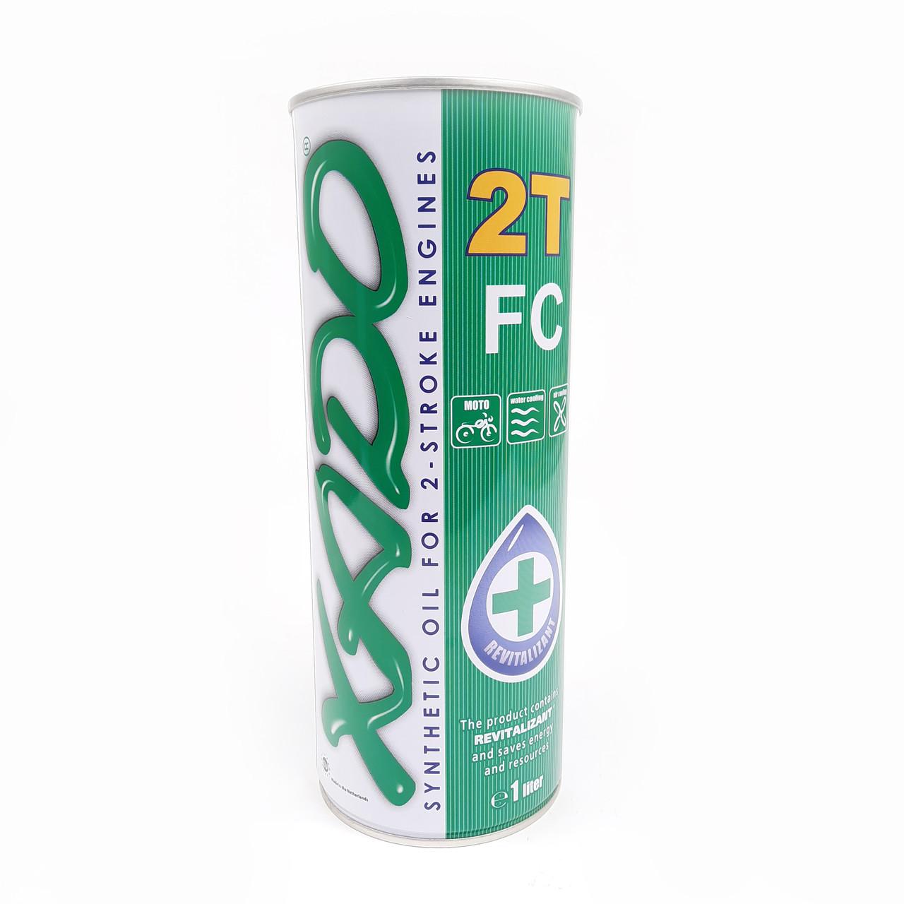 Масло 2T, 1л (синтетика, Atomic OIL 2T FC) XADO