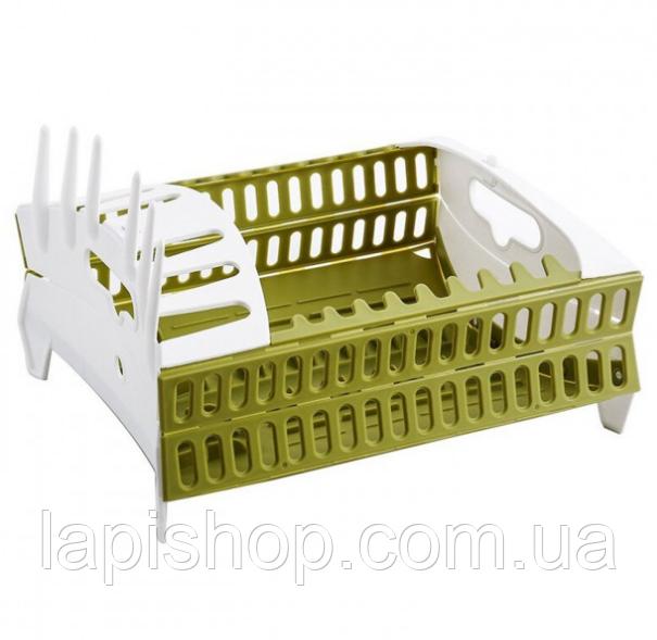 Органайзер для посуды складная компактная подставка для посуды