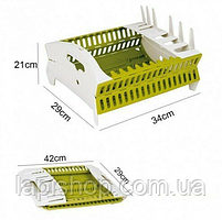 Органайзер для посуды складная компактная подставка для посуды, фото 2