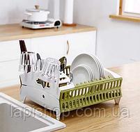 Органайзер для посуды складная компактная подставка для посуды, фото 3