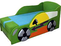 Дитячий диван-ліжко Автомобільчик зелений