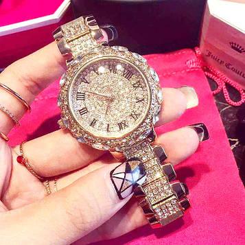 Жіночі годинники з золотистим браслетом код 619