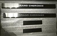Накладки на пороги Jeep Grand Cherokee III 2004- 4шт. Standart