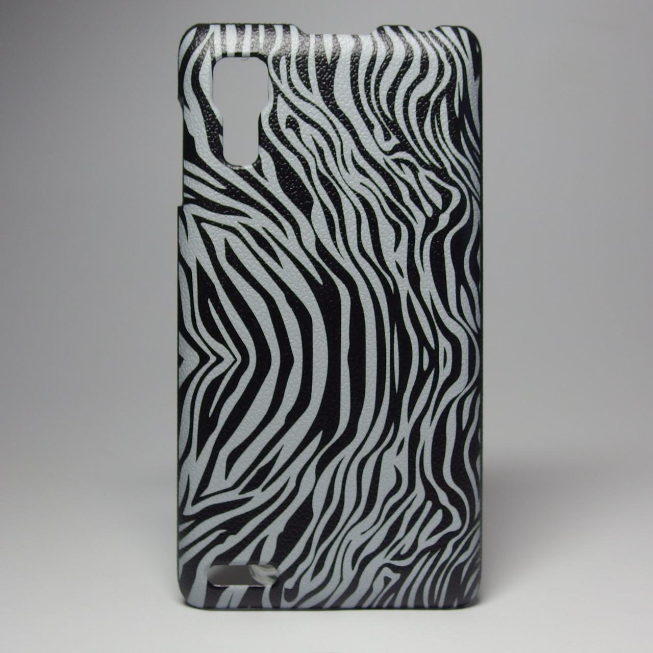Чехол для lenovo p780 панель накладка с рисунком зебра