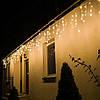 Новогодняя гирлянда Бахрома 500 LED, Белый теплый свет, 22,5 м + пульт, фото 5