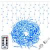 Новогодняя гирлянда Бахрома 500 LED, Синий цвет, 22,5 м + пульт, фото 2