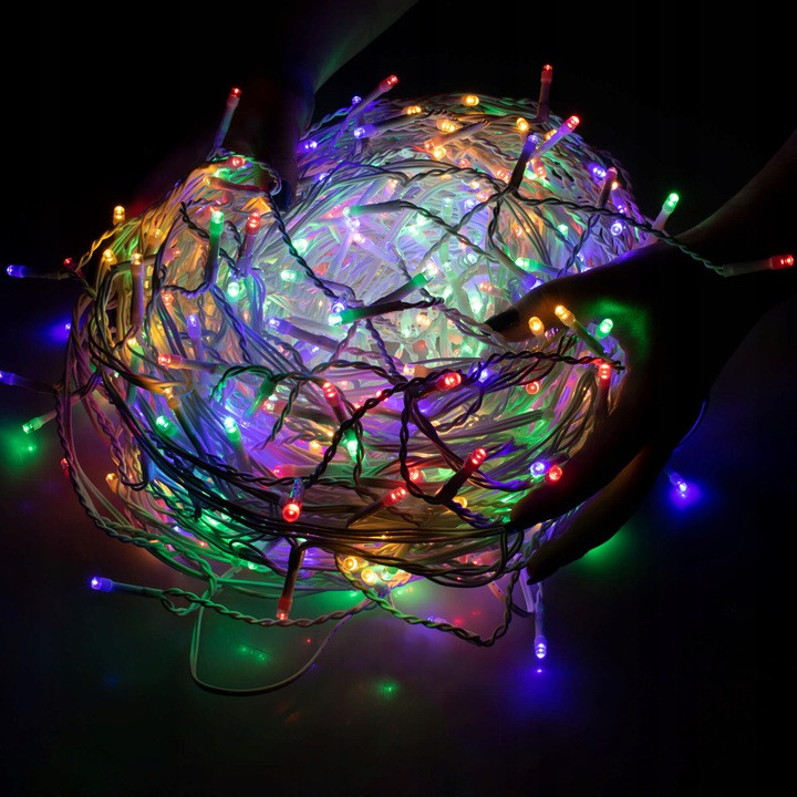 Новогодняя гирлянда Бахрома 500 LED, Разноцветный, 22,5 м