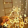 Гирлянда штора с украшениями и звездами, 138 LED, 4,8 м, фото 4